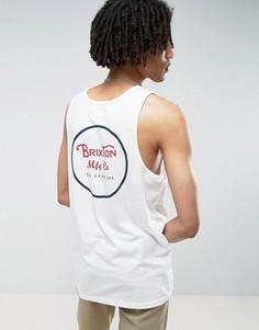 Майка с логотипом на спине Brixton - Белый