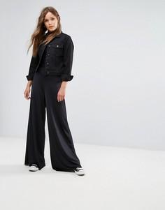 Брюки с широкими штанинами New Look - Черный
