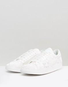 Белые бархатные кроссовки Nike Blazer - Белый