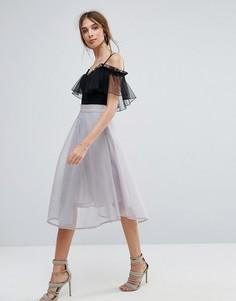 Расклешенная юбка миди New Look - Серый
