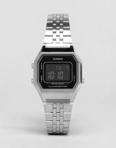 Небольшие цифровые часы с черным циферблатом Casio LA680WEGA - Черный