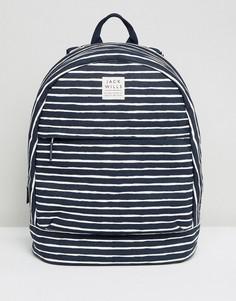 Хлопковый рюкзак в полоску Jack Wills - Темно-синий