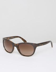 Большие солнцезащитные очки Ray Ban - Коричневый