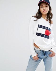 Свитшот с логотипом Tommy Jeans - Белый