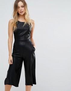 Комбинезон с юбкой-брюками Wal G - Черный