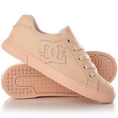 Кеды кроссовки низкие женские DC Shoes Chelsea Tx Peach Cream