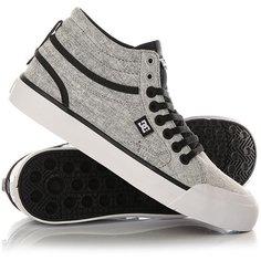 Кеды кроссовки высокие женские DC Shoes Evan Txse Black/Charcoal