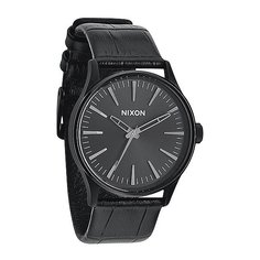 Часы Nixon Sentry 38 Leather Black Gator