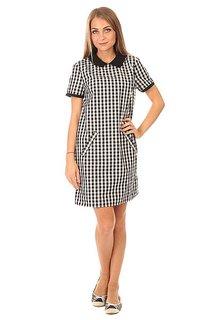 Платье женское Fred Perry A Line Gingham Dress White/Black