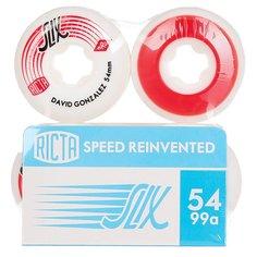 Колеса для скейтборда для скейтборда Ricta David Gonzalez Slix White/Red 99A 54 mm