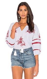 Блуза с вышивкой tagan - Velvet by Graham & Spencer