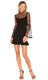 Кружевное платье с оборкой - NICHOLAS