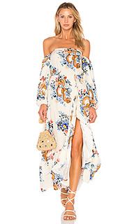 Макси платье japanese garden - FARM