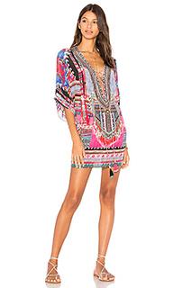 Платье в восточном стиле со шнуровкой - Camilla