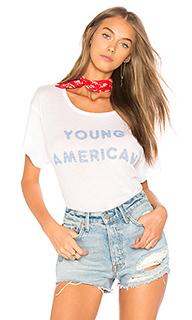 Футболка с рисунком young american - Wildfox Couture