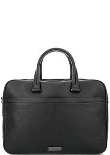 Черная вместительная сумка с двумя отделами Calvin Klein Jeans