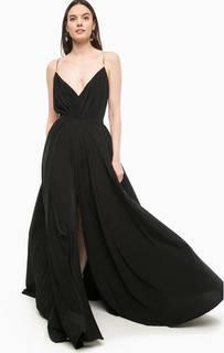 Длинное черное платье с высоким разрезом Marciano Guess