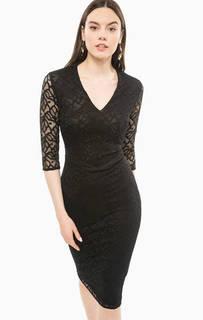 Ажурное платье-футляр черного цвета Marciano Guess