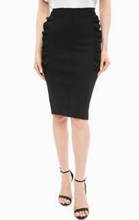 Черная юбка-карандаш с рюшами Marciano Guess