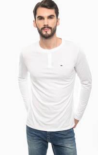 Белая футболка с длинными рукавами Hilfiger Denim
