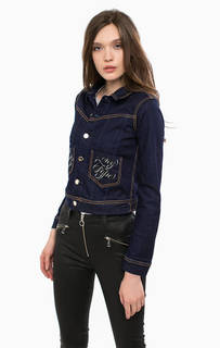 Джинсовая куртка с контрастной строчкой Guess