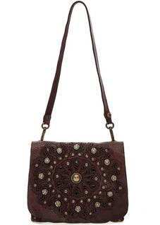 Маленькая кожаная сумка с откидным клапаном Campomaggi