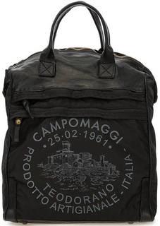 Черная сумка-рюкзак с одним отделом Campomaggi