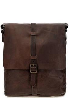 Коричневая сумка из натуральной кожи Campomaggi