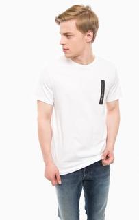 Белая хлопковая футболка с короткими рукавами Jack & Jones