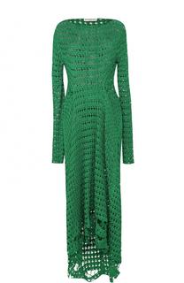 Платье-макси фактурной вязки Balenciaga