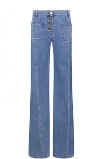 Расклешенные джинсы с потертостями Chloé