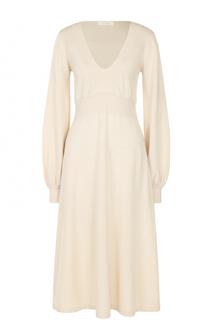 Вязаное платье-миди с V-образным вырезом Chloé