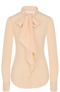 Шелковая блуза с воротником аскот Chloé