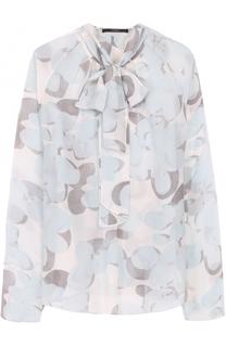 Полупрозрачная блуза с принтом и воротником аскот Windsor