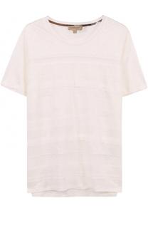 Льняная футболка с кружевной отделкой Burberry