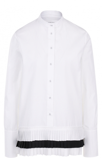 Блуза с воротником-стойкой и плиссированной отделкой Victoria by Victoria Beckham
