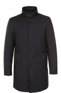 Пуховое пальто на молнии с воротником-стойкой Moorer