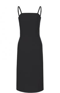 Приталенное платье-миди на тонких бретельках Balenciaga