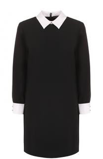 Платье-рубашка с контрастными воротником и манжетами Alice + Olivia
