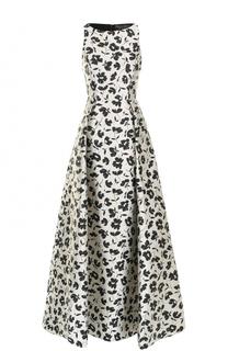Приталенное платье-макси с цветочным принтом Alice + Olivia