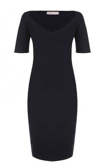 Платье-миди с вышивкой и V-образным вырезом D.Exterior