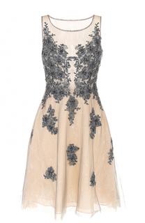 Кружевное мини-платье с вышивкой Basix Black Label