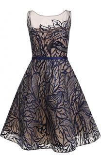 Приталенное платье-миди с вышивкой пайетками Basix Black Label