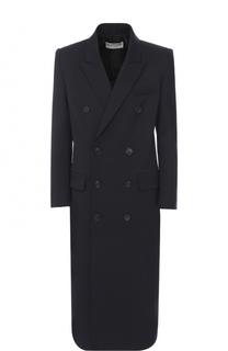 Двубортное пальто прямого кроя Balenciaga