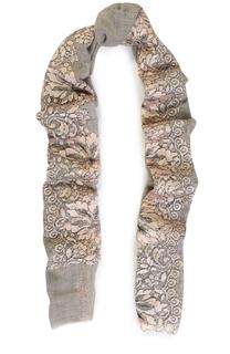 Кашемировый платок с кружевными вставками Vintage Shades