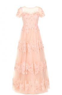 Приталенное платье-макси с цветочной отделкой Basix Black Label