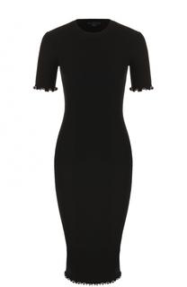 Платье-футляр фактурной вязки с круглым вырезом Alexander Wang