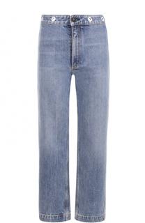 Укороченные джинсы прямого кроя с потертостями Rag&Bone Rag&Bone