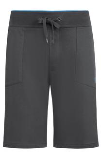 Хлопковые шорты свободного кроя BOSS