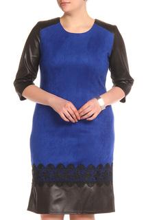 платье декорированно искусственной кожей BlagoF